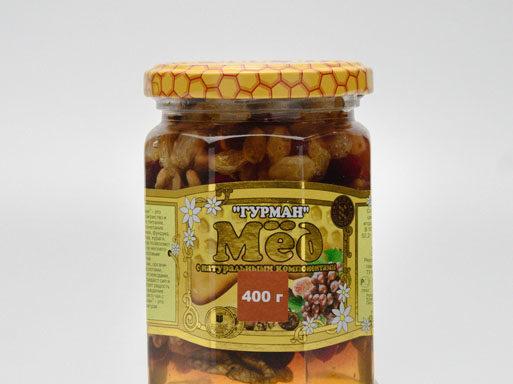 Мед «Гурман» 0,4 кг