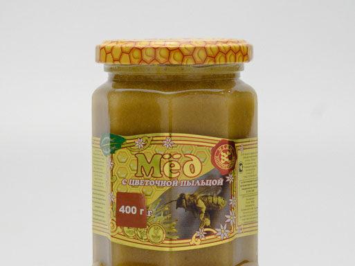 Мед с цветочной пыльцой 0,4 кг