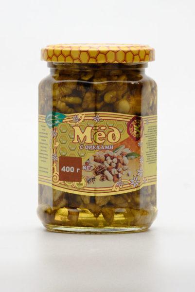 Мёд с грецкими орехами 0,4