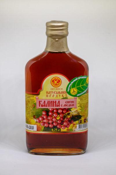 Сироп Калина с мёдом