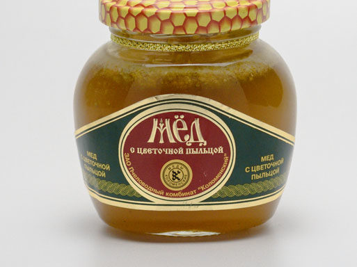 Мед с цветочной пыльцой 0,25 кг
