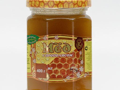 Мед с прополисом 0,4 кг