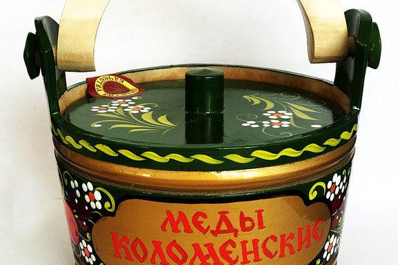 Ушат деревянный с мёдом 0,3 кг